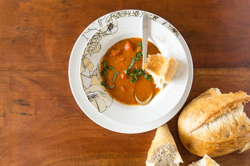 Roasted Tomato Soup with Harissa