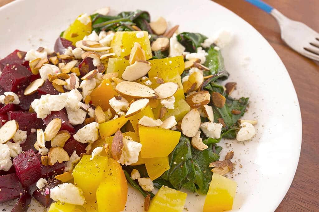Warm Beets & Greens Salad | Recipe at OatandSesame.com