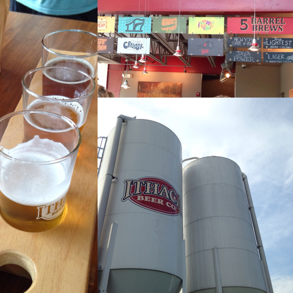 Ithaca Beer Co. is one of the many breweries in town. I love that their menu is based on what's growing right outside in their gardens.