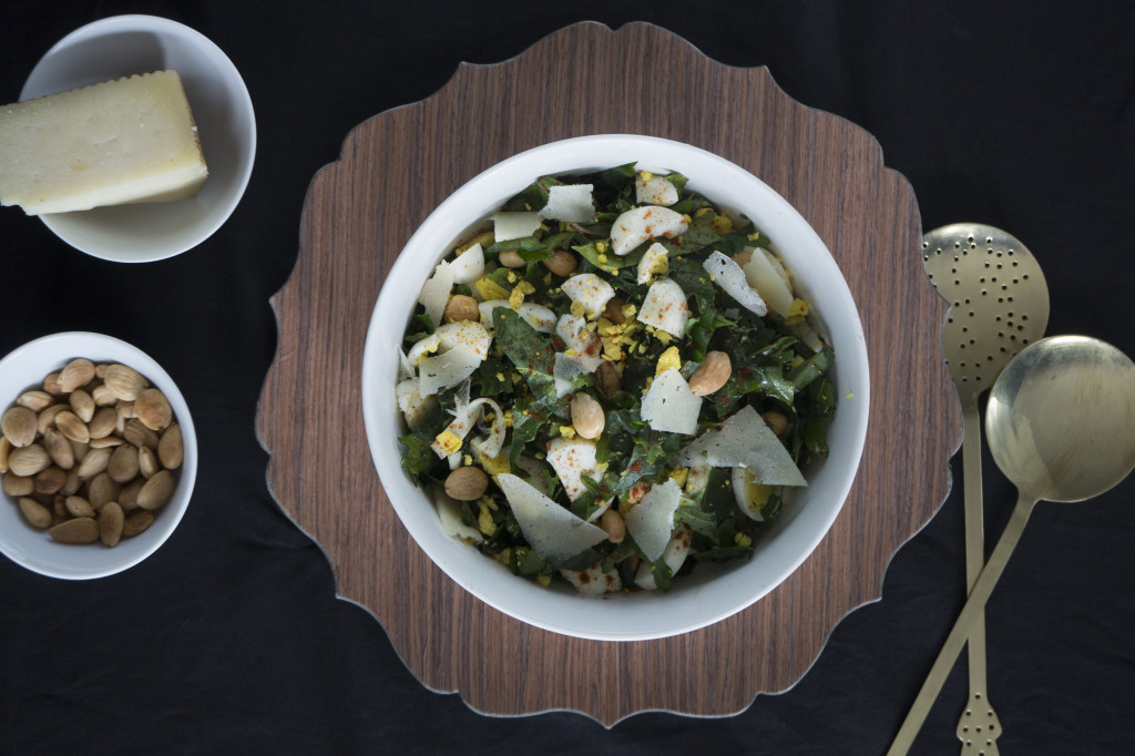 Kale Salad with Manchego
