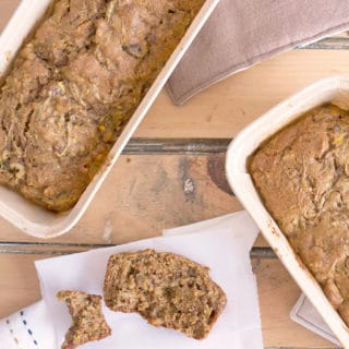 Whole Wheat Zucchini Walnut Bread