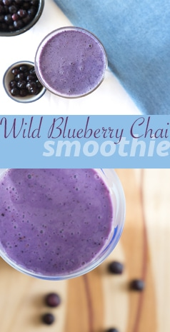A Wild Blueberry Smoothie rich with Chai Spices | SMOOTHIES | BREAKFAST | BLUEBERRIES | Recipe at OatandSesame.com
