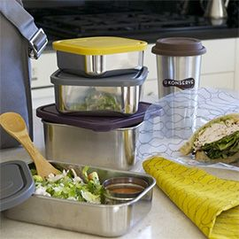 pack your lunch in reusable containers