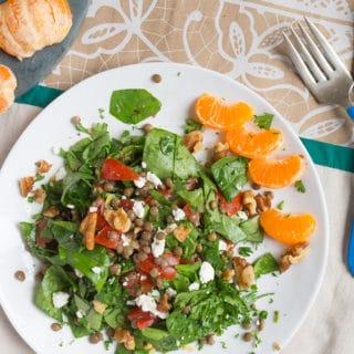 Bruschetta Lentil Salad