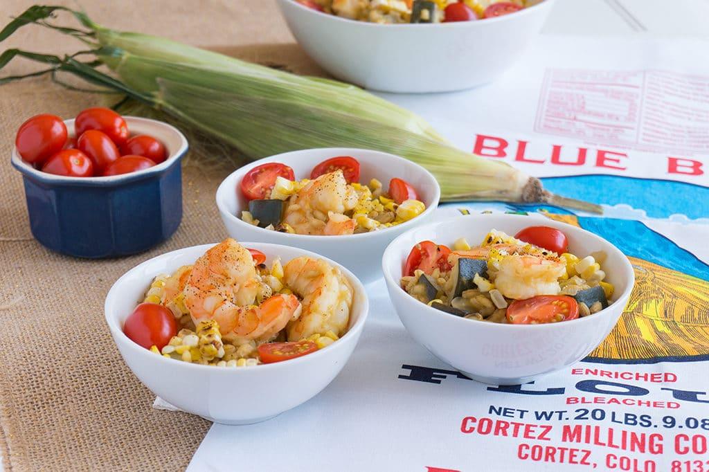 Shrimp, Zucchini & Sweet Corn Risotto