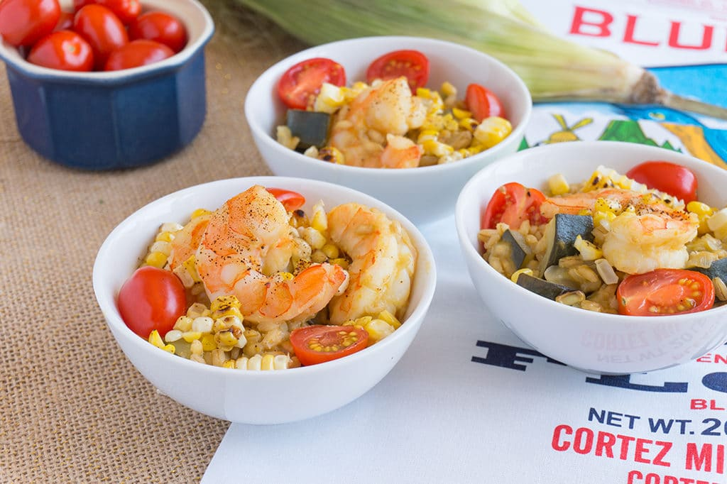 Shrimp, Zucchini and Sweet Corn Risotto