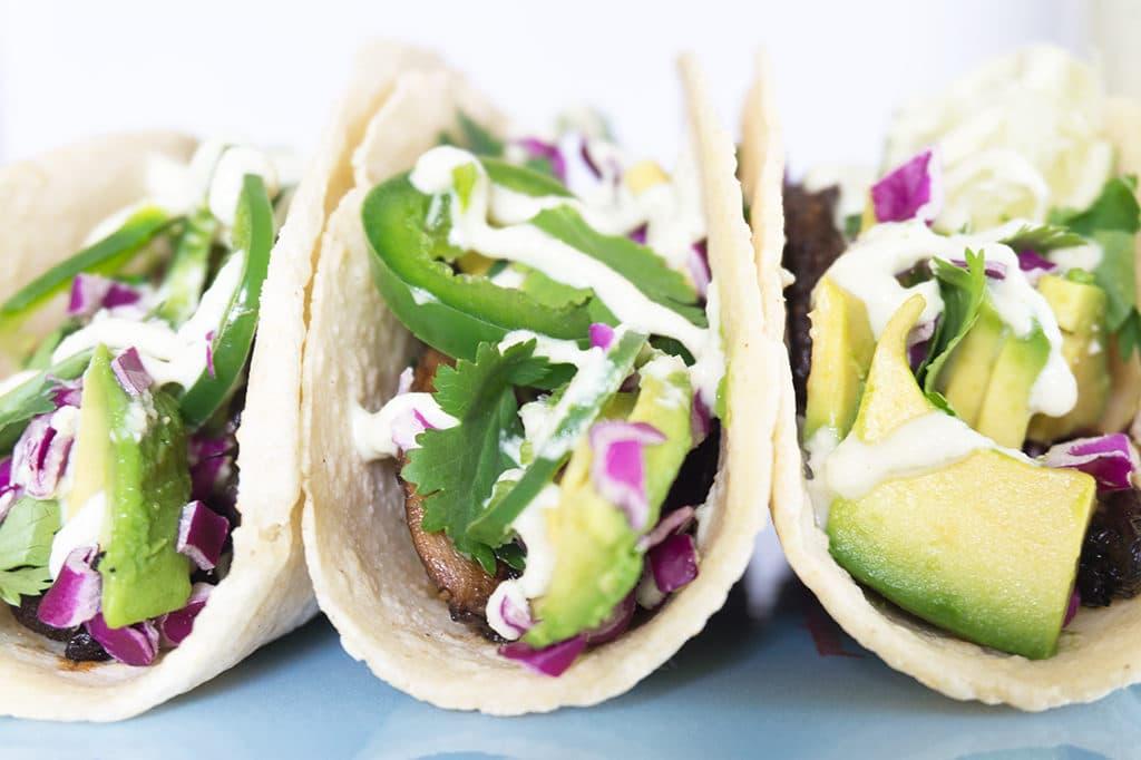 Veggie Tacos with Creamy Jalapeño Sauce