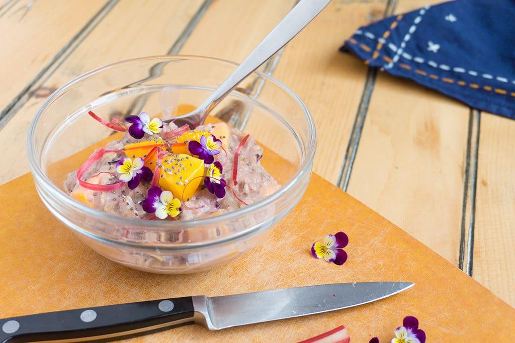 Rhubarb Mango Oatmeal