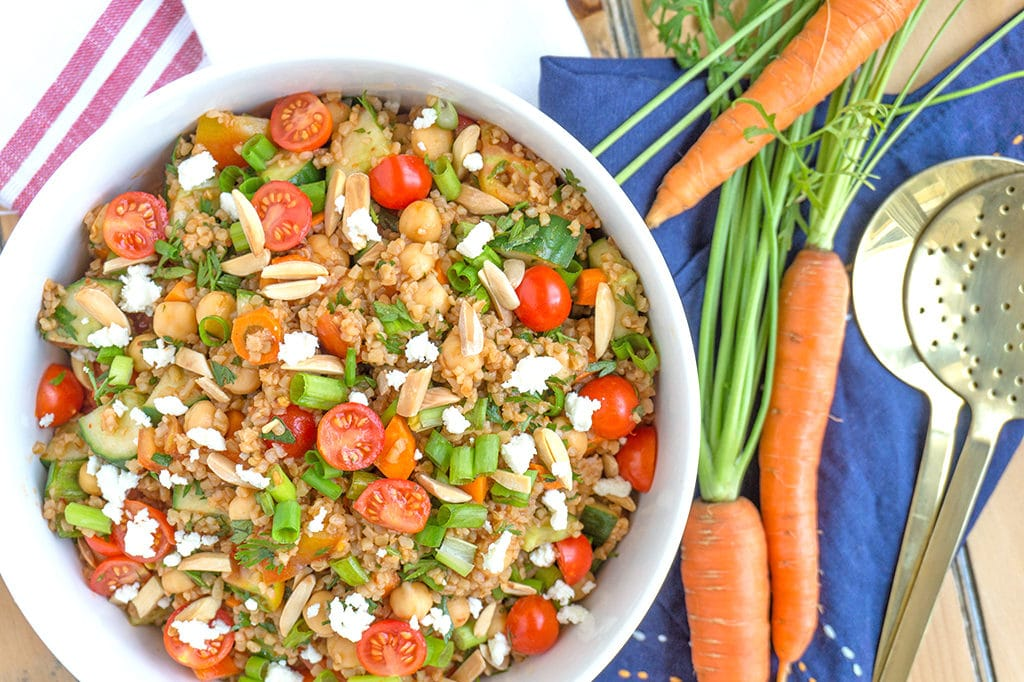 Turkish Bulgur Wheat Salad with Tomatoes and Cucumbers - Oat&Sesame
