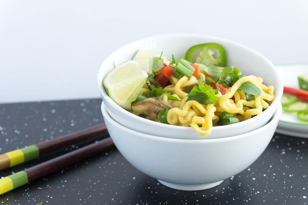 Thai Curly Coconut Curry Noodles