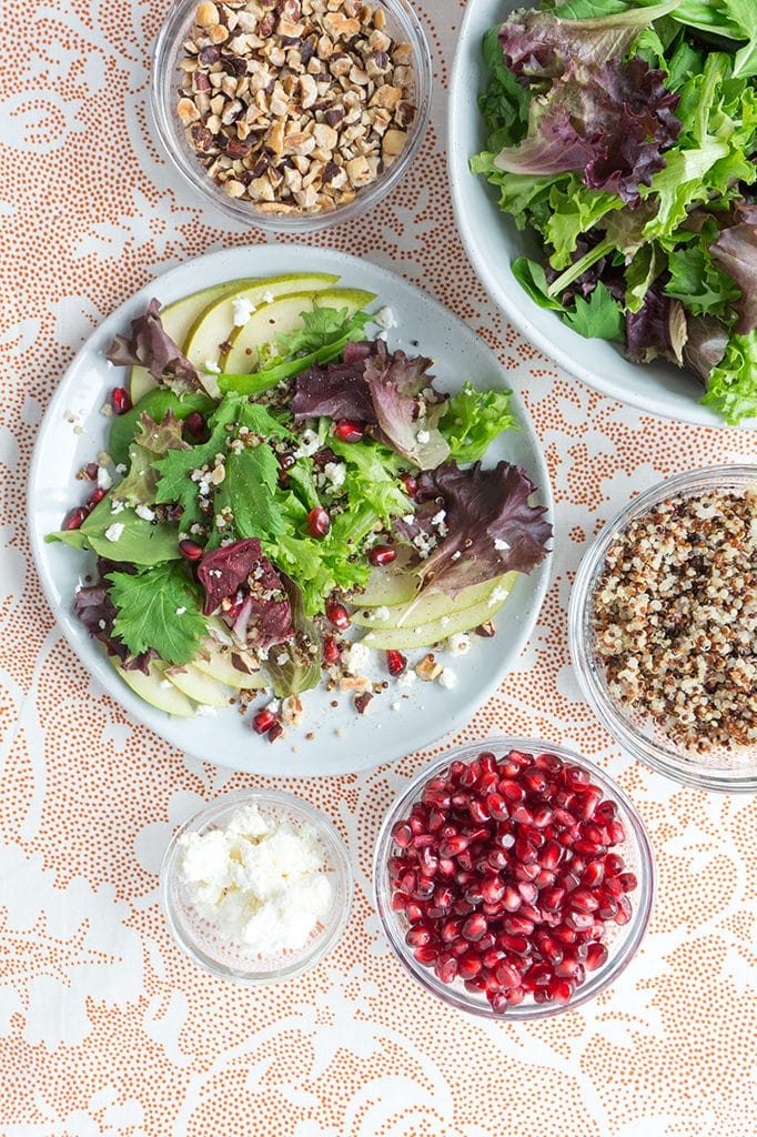Fall Salad with Pear, Pomegranate & Orange Vinaigrette