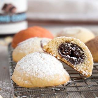 Chocolate Almond Pillow Cookies