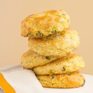 White Cheddar Chipotle Cornmeal Biscuits | Recipe at OatandSesame.com