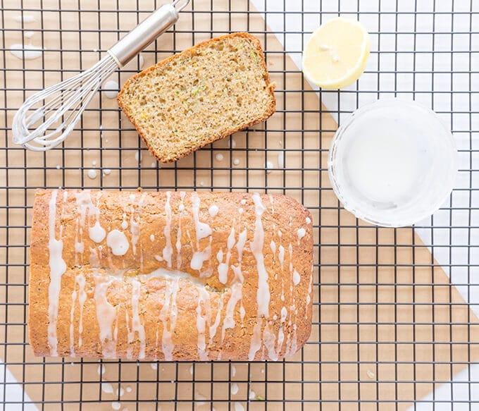 Lemon Poppyseed Zucchini Bread - A lemony glazed zucchini bread! | OatandSesame.com